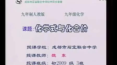 九年级化学优质示范课《化学式与化合价》_魏东
